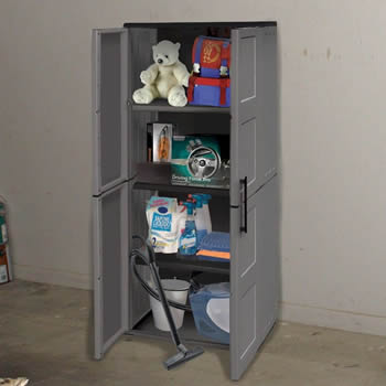 Shire Large Cupboard with Shelves Plastic Store image