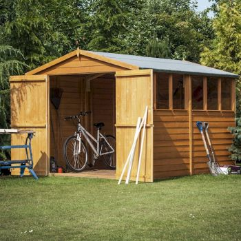 Shire Overlap Garden Shed 10x6 with Double Doors image
