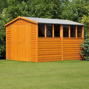 Shire Overlap Garden Shed 12x6 with Double Doors image