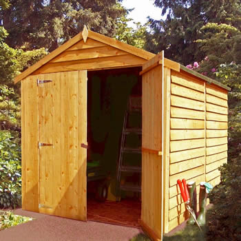 Shire Overlap Windowless Shed 8x6 with Double Doors image
