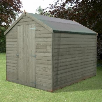 Shire Pressure Treated Value Overlap Apex Shed 8x6 image