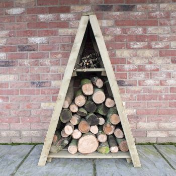 Shire Small Triangular Planed Log Store image