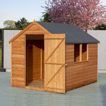 Shire Value Overlap Apex Shed 8x6 with Windows image