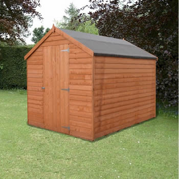 Shire Value Overlap Apex Shed 8x6 image