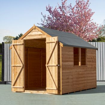 Shire Value Overlap Double Door Apex Shed 8x6 image