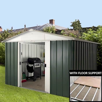 Yardmaster 108GEYZ Metal Shed 8x10 with Floor Support Kit image