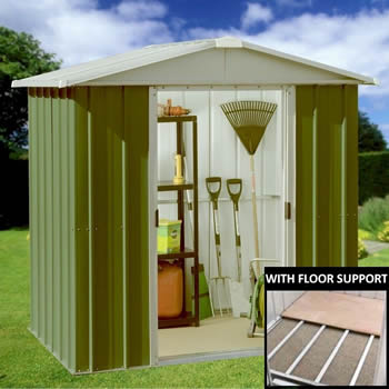 Yardmaster 65GEYZ Metal Shed 5x6 with Floor Support Kit image
