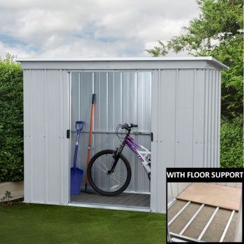 Yardmaster 84PZ Pent Metal Shed 8x4 with Floor Support Kit image