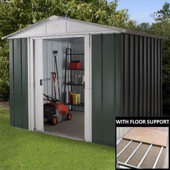 Yardmaster 86GEYZ Metal Shed 6x8 with Floor Support Kit image