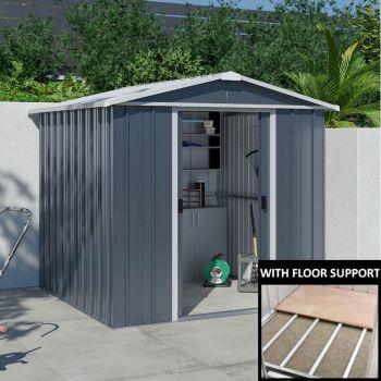 Yardmaster Castleton 67AEYZ Metal Shed 7x6 with Floor Support Kit