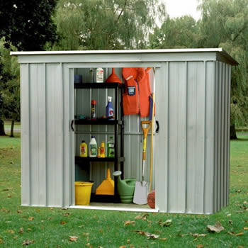Yardmaster Store-All 64PZ Pent Metal Shed 1.84 x 1.04m image