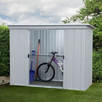 Yardmaster Store-All 84PZ Pent Metal Shed 2.24 x 1.04m image