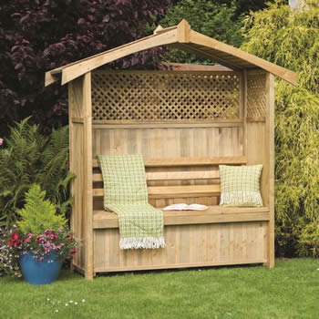 Zest Hampshire Arbour with Storage Box image