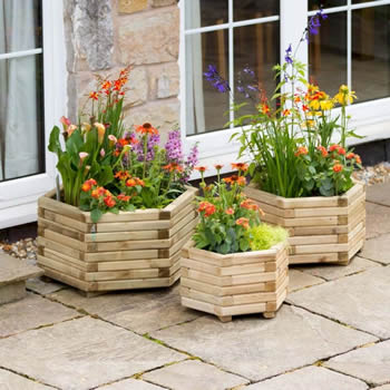 Zest Marford Hexagonal Planter Set of 3 image