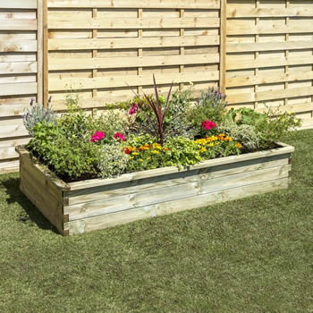 Zest Sleeper Raised Bed 1.8 x 0.9 x 0.3m image