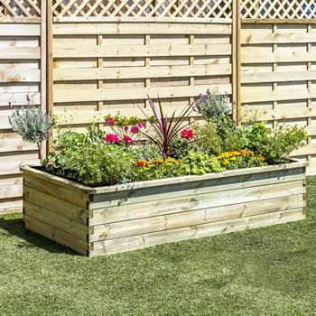 Zest Sleeper Raised Bed 1.8 x 0.9 x 0.45m image