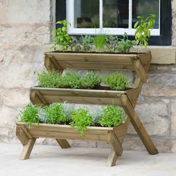 Zest Stepped Herb Planter image