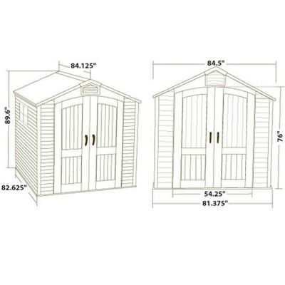 Lifetime Apex Plastic Shed 7x7