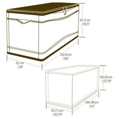 Lifetime Large Plastic Storage Box