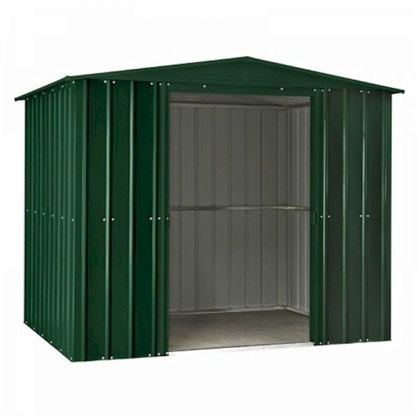 Lotus Apex 8x6 Heritage Green Metal shed