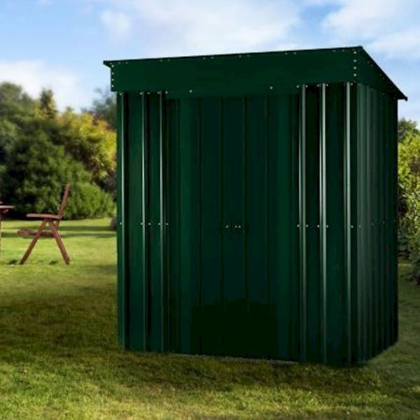 Lotus Pent 5x3 Heritage Green Metal Shed