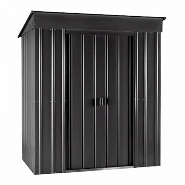 Lotus Pent 6x3 Anthracite Grey Metal Shed