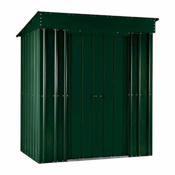 Lotus Pent 6x3 Heritage Green Metal Shed