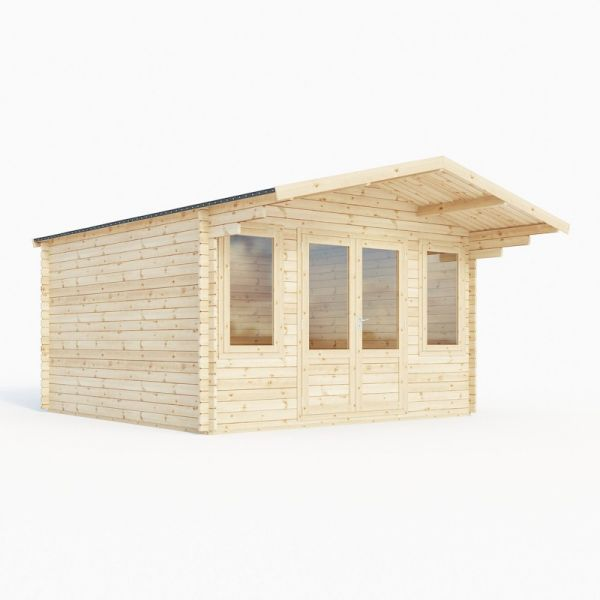 Mercia Haven Double-Glazed 28mm Log Cabin 4.0 x 4.0m