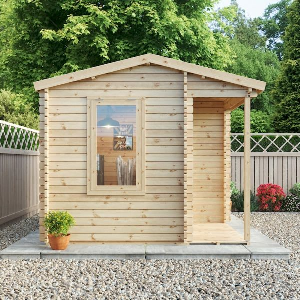 Mercia Home Office Executive Double-Glazed 44mm Log Cabin 4 x 3m