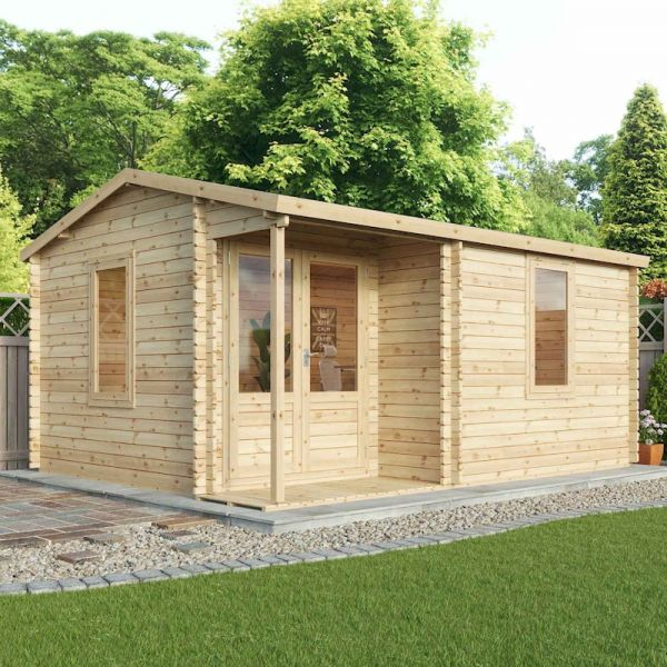 Mercia Home Office Executive Double-Glazed 44mm Log Cabin 5 x 4m