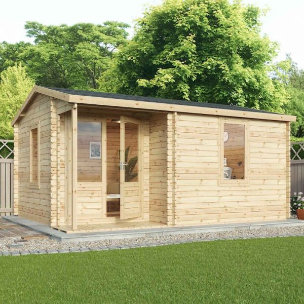 Mercia Home Office Executive Plus Double-Glazed 44mm Log Cabin 6x5m