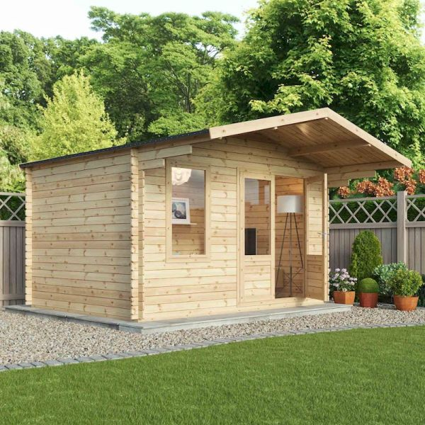 Mercia Retreat 28mm Log Cabin 4.0 x 3.0m