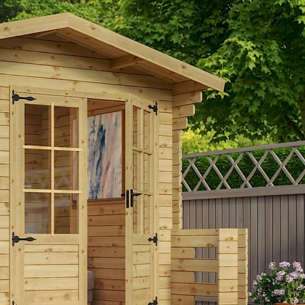 Mercia Studio 19mm Veranda Log Cabin 3.7 x 3.3m