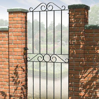 Metpost ironbridge tall narrow metal gate one garden for Tall narrow windows