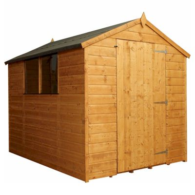 Mercia Classic Shiplap Large Door Apex Shed 8x6