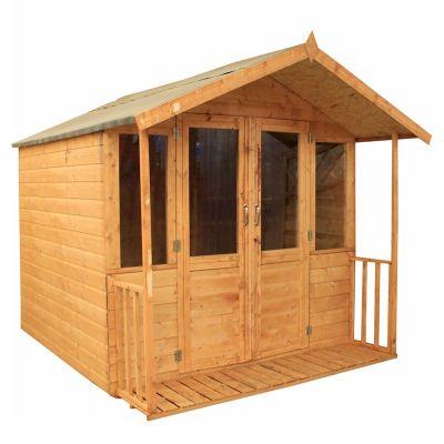 millbrook traditional veranda summerhouse 8x7