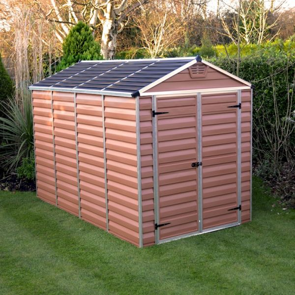 Palram Skylight Amber Plastic Shed 6x10