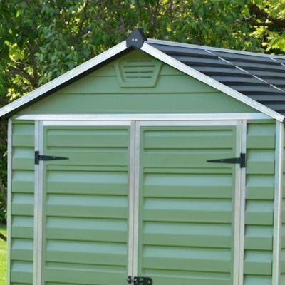 Palram SkyLight Green Plastic Shed 12x6
