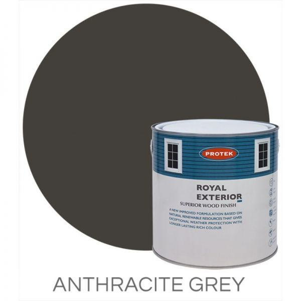 Protek Royal Exterior Wood Stain Anthracite Grey 5 Litre