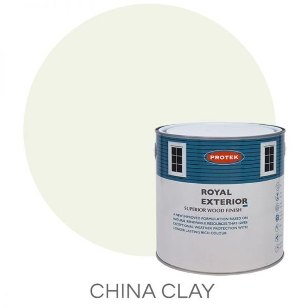 Protek Royal Exterior Wood Stain - China Clay 2.5 Litre