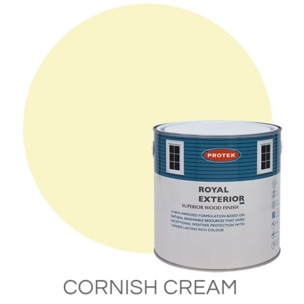 Protek Royal Exterior Wood Stain - Cornish Cream 5 Litre