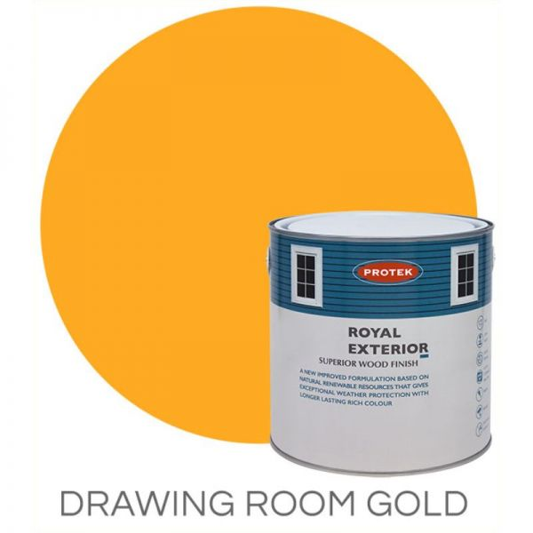 Protek Royal Exterior Wood Stain - Drawing Room Gold 5 Litre