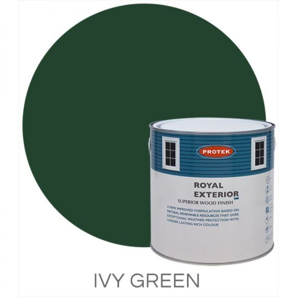 Protek Royal Exterior Wood Stain - Ivy Green 2.5 Litre