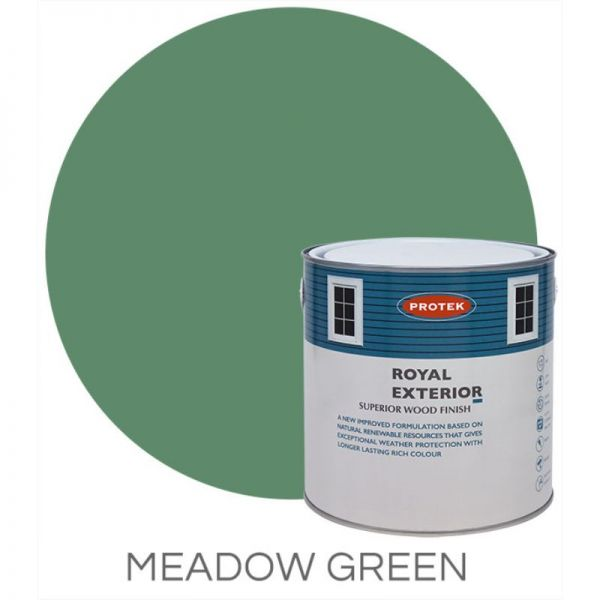 Protek Royal Exterior Wood Stain - Meadow Green 1 Litre