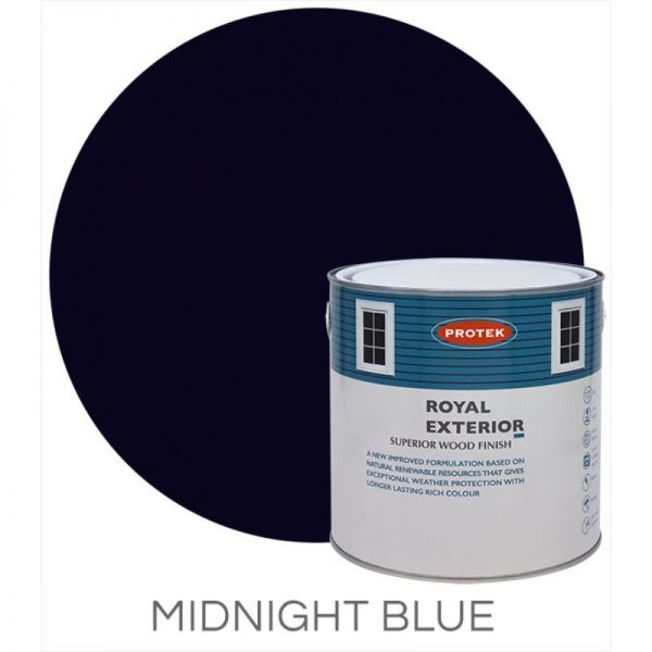 Protek Royal Exterior Wood Stain - Midnight Blue 1 Litre