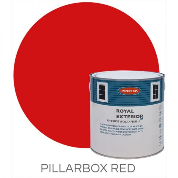 Protek Royal Exterior Wood Stain - Pillarbox Red 1 Litre