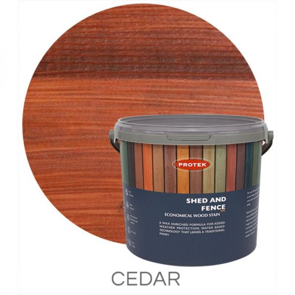 Protek Shed and Fence Stain - Cedar 5 Litre