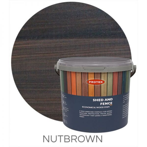 Protek Shed and Fence Stain - Nut Brown 5 Litre
