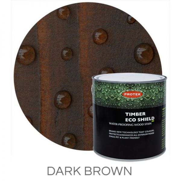 Protek Timber Eco Shield Treatment - Dark Brown 2.5 litre