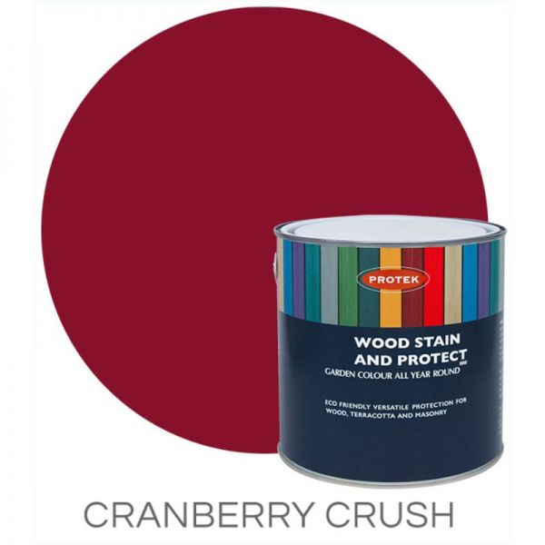 Protek Wood Stain & Protector - Cranberry Crush 5 Litre